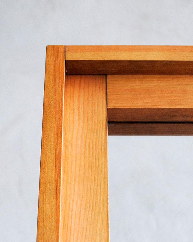 Detalle marco mampara rectangular Monolito