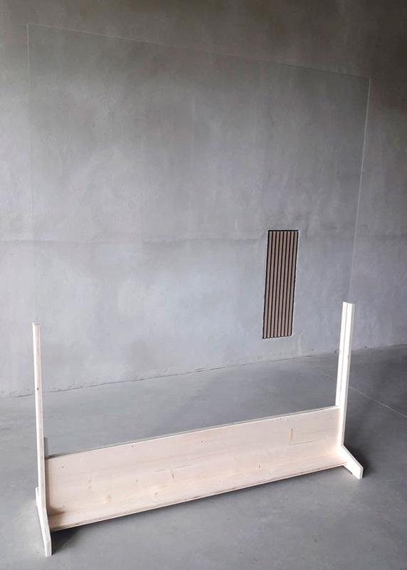 Mampara en U base de madera