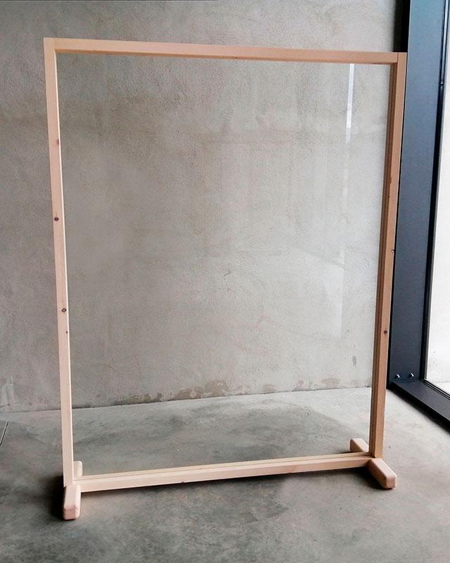Mampara rectangular Monolito