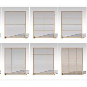 Mamparas rectangulares acabados