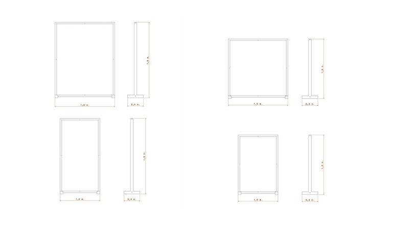 Mamparas rectangulares dimensiones