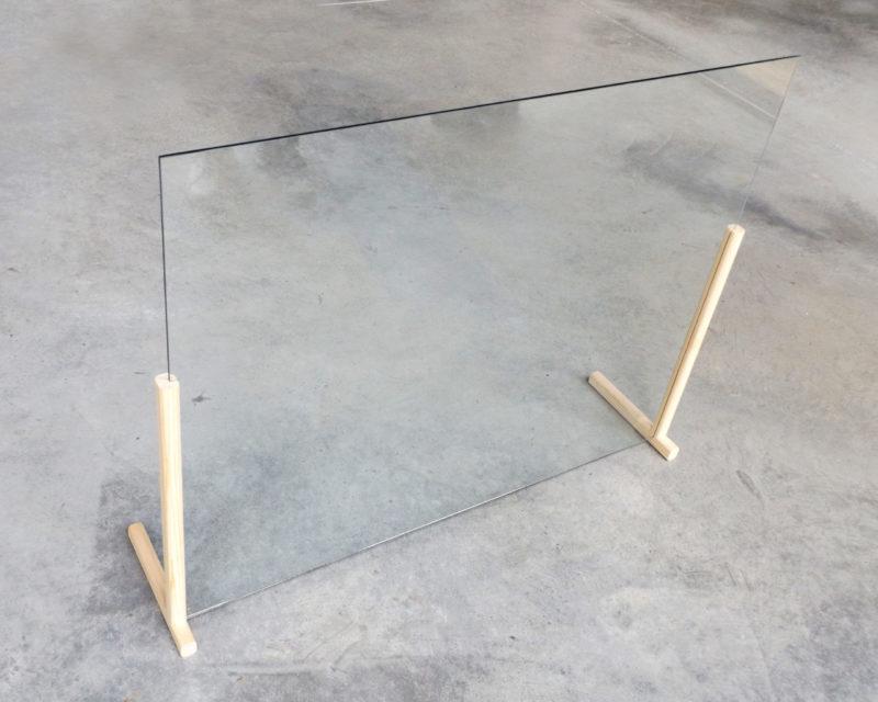 Mampara de aparador o mesa en forma de T